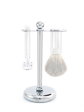 Edwin Jagger Stand for Safety Razor and Shaving Brush Chromed Plated small image