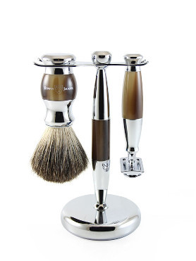 Edwin Jagger Three Pieces Safety Razor Chromed Shaving Set small image